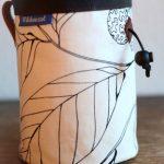 wildwexel chalkbag blumen blaetter stilisiert schwarz