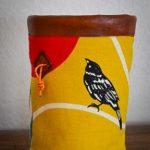 wildwexel chalkbag voegel spatz gelb