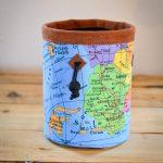 Chalkbag mit Landkarte bunt